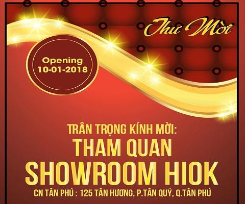 Thông Báo Khai Trương Showroom HiOK - Tân Phú